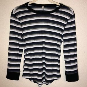 Intimately Free People Striped Long Sleeve…